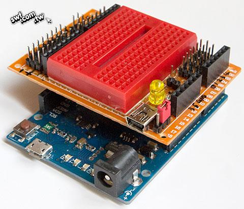自制arduino leonardo(李奥纳多)实验面包扩充介面板