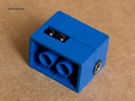 IR transmitter in a LEGO brick
