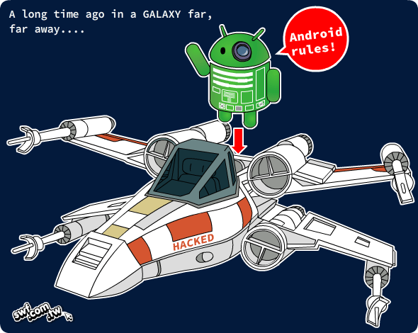 Android R2-D2 X-Wing fighter